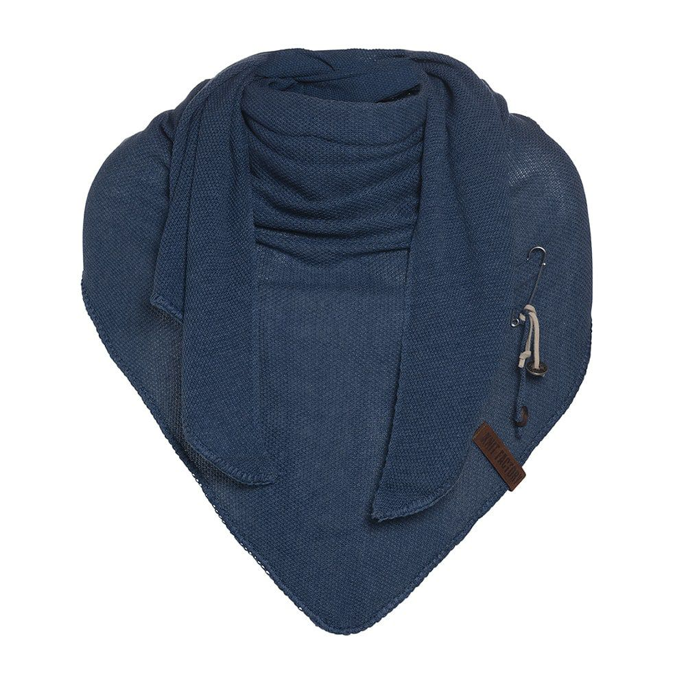 knit factory 1306013 lola omslagdoek jeans1