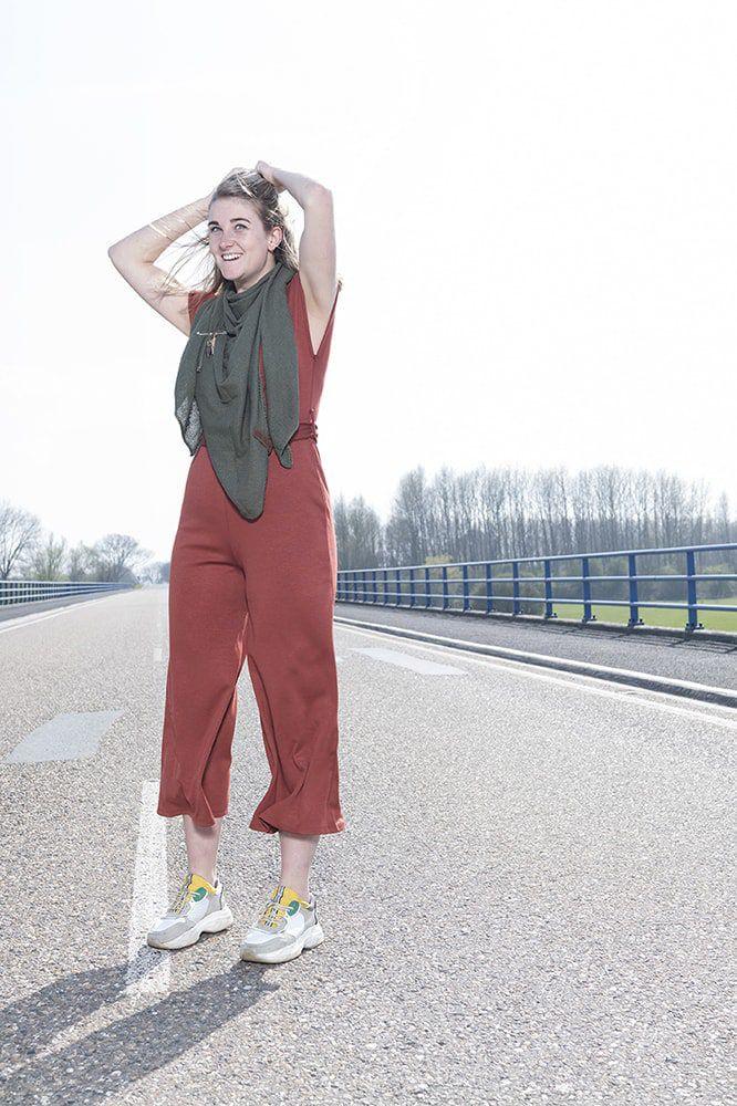 knit factory 1306014 lola omslagdoek groen7