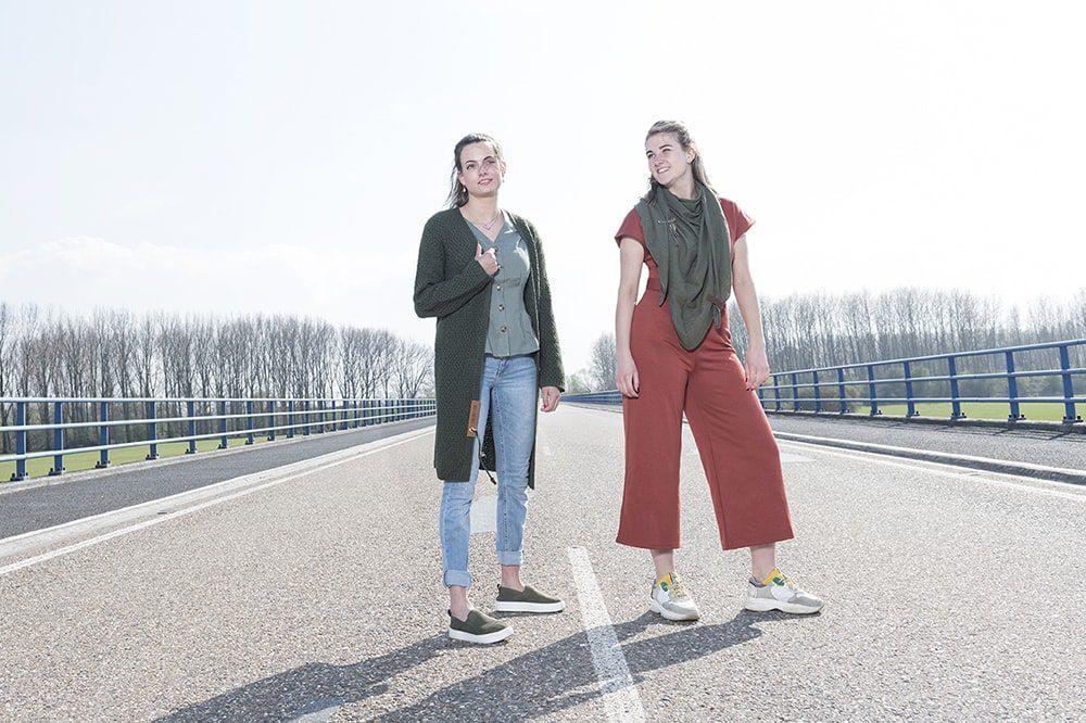 knit factory 1306014 lola omslagdoek groen8