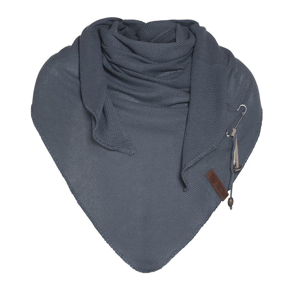 knit factory 1306018 lola omslagdoek granit1
