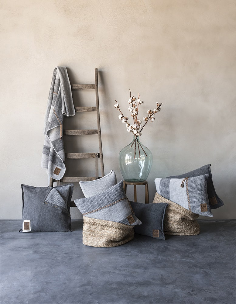 knit factory 1311151 roxx plaid grijs antraciet 3