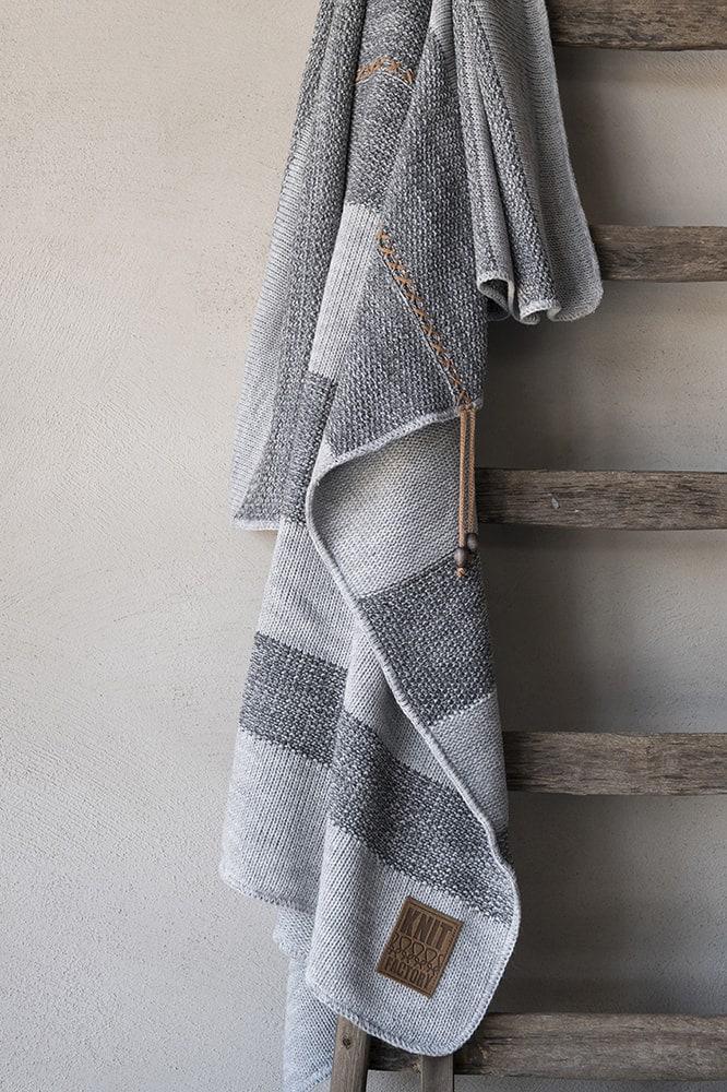 knit factory 1311151 roxx plaid grijs antraciet 5