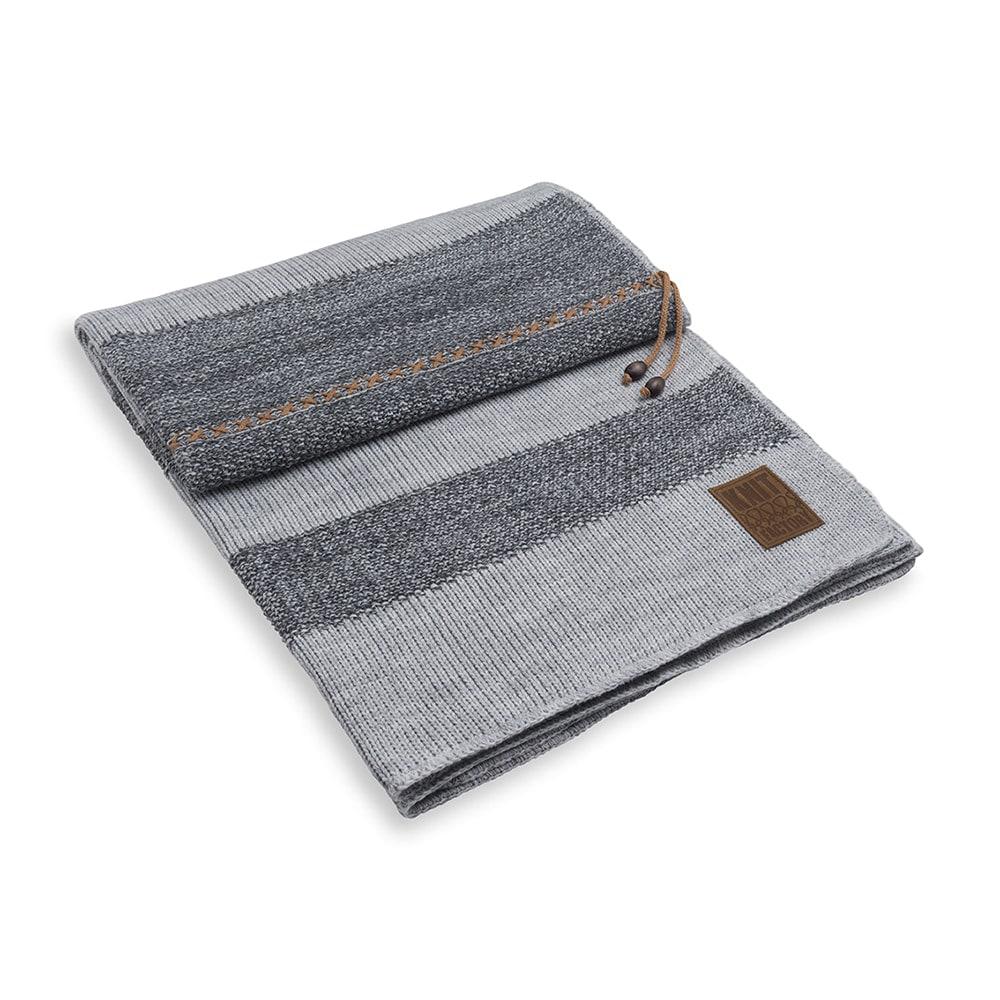 knit factory 1311151 roxx plaid grijs antraciet 9