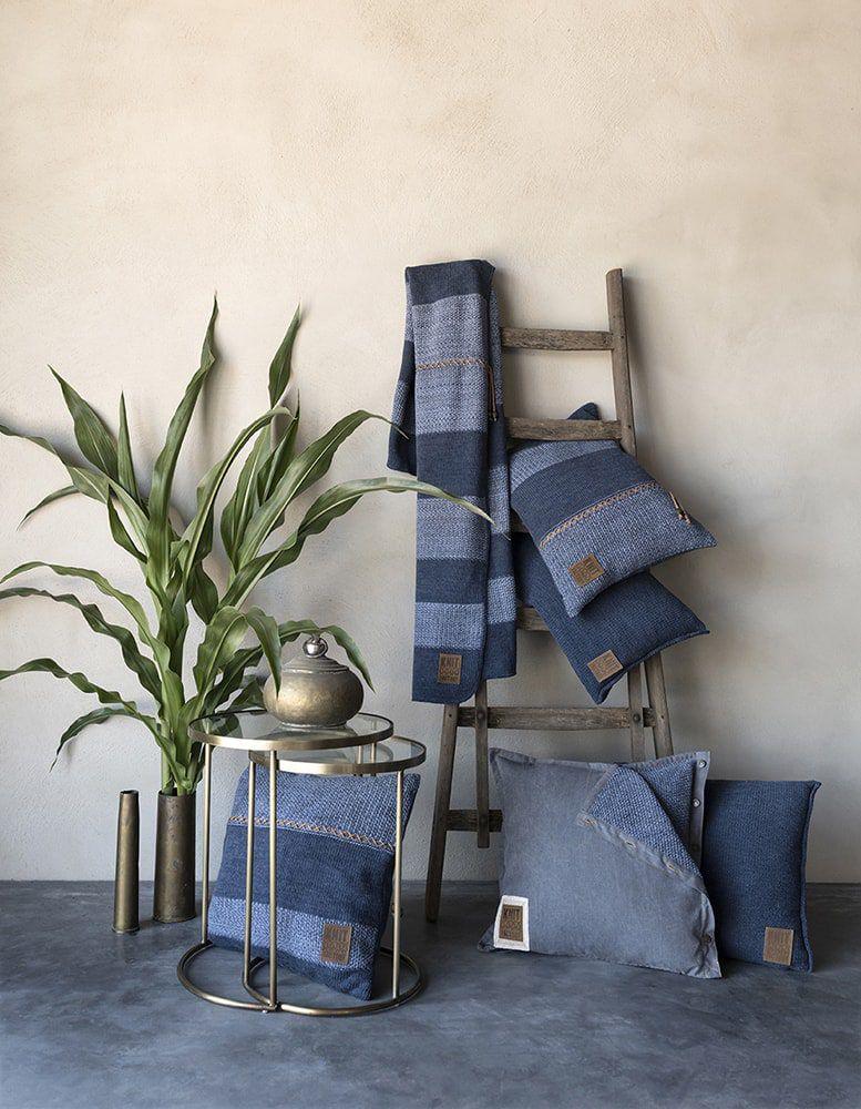 knit factory 1311154 roxx plaid jeans indigo 2
