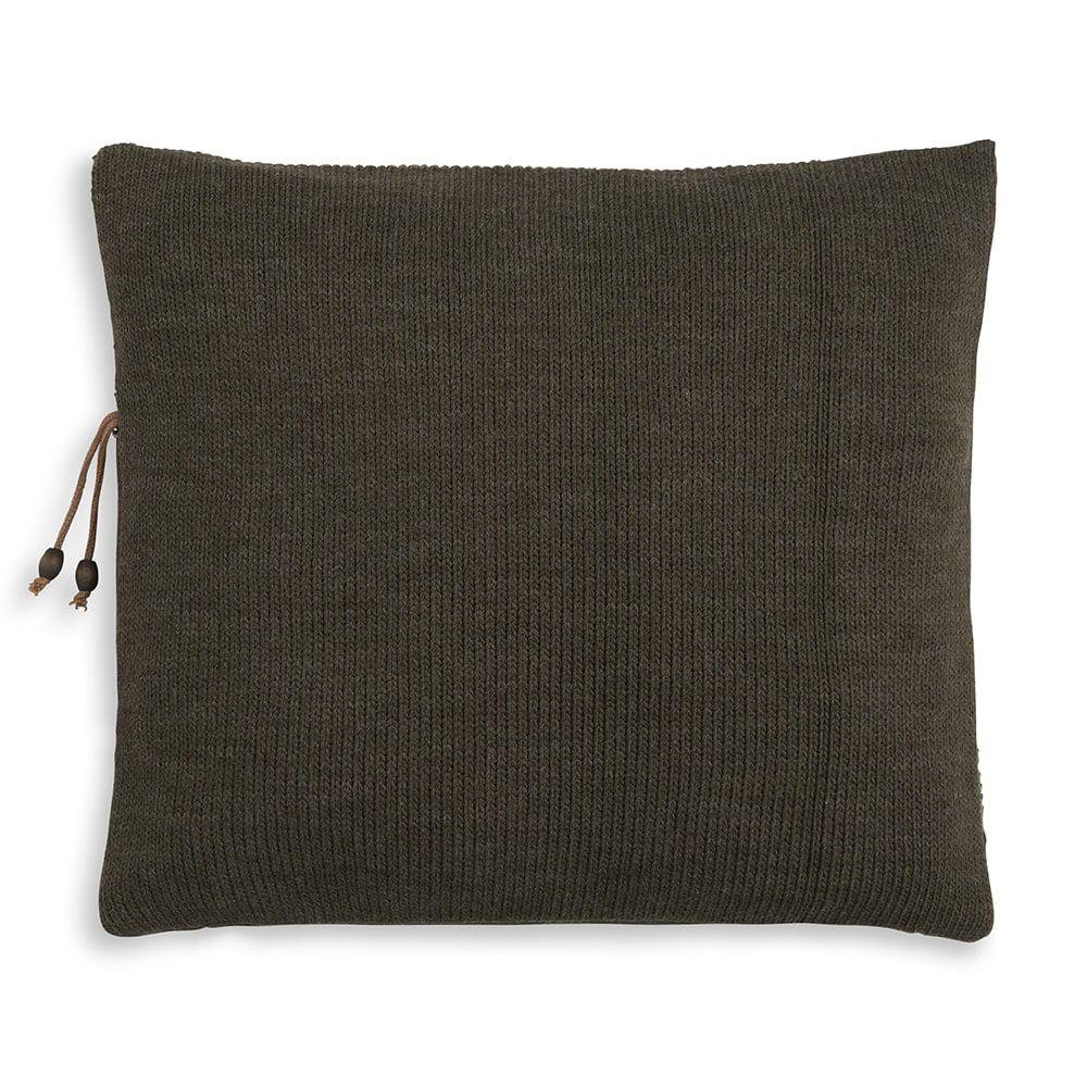 knit factory 1311244 roxx kussen 50x50 groen olive 2