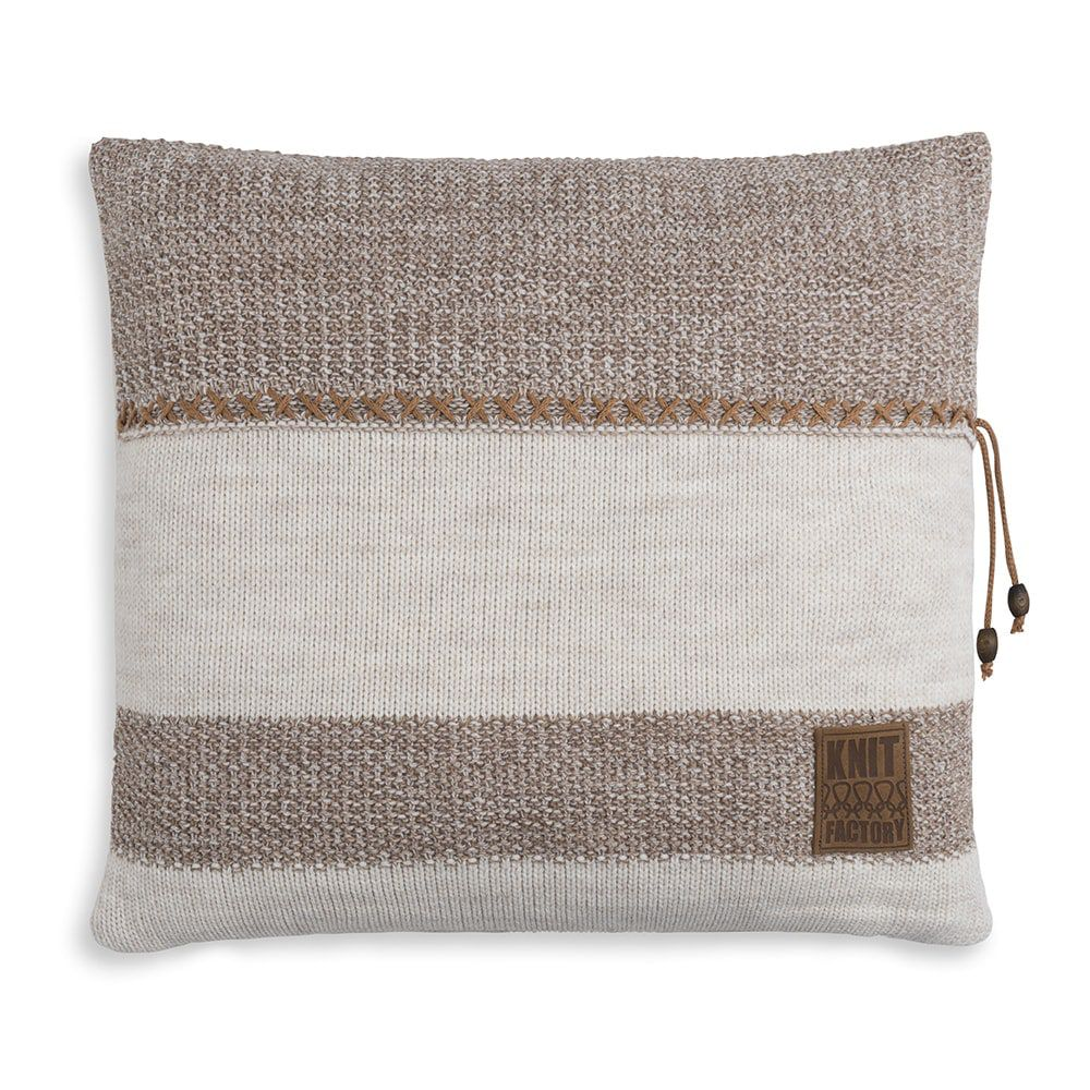 knit factory 1311252 roxx kussen 50x50 beige marron 1