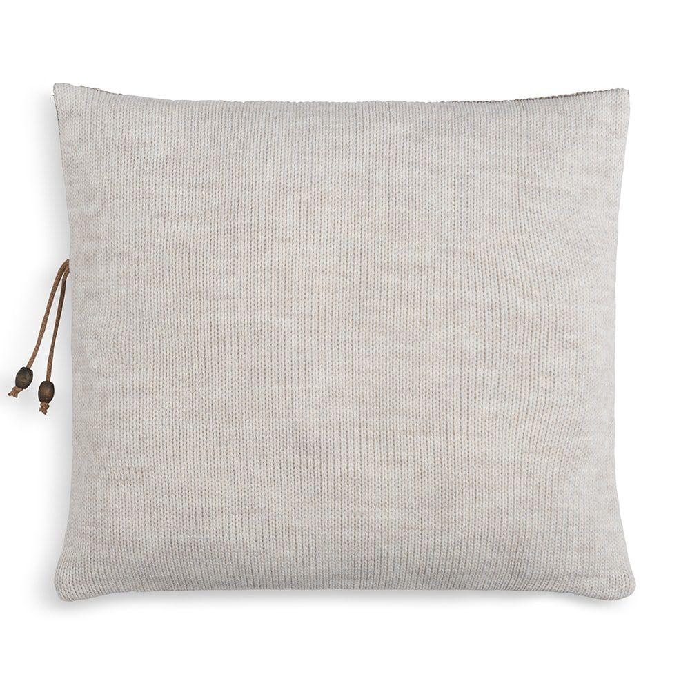 knit factory 1311252 roxx kussen 50x50 beige marron 2