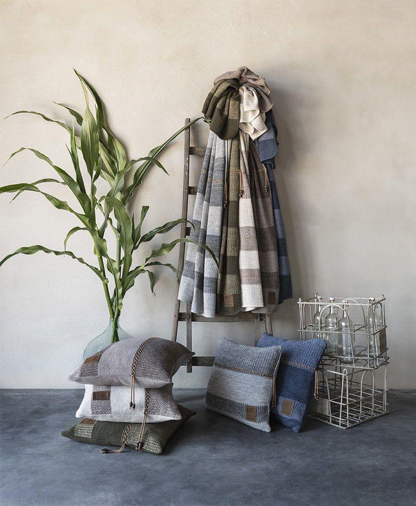 knit factory 1311252 roxx kussen 50x50 beige marron 6