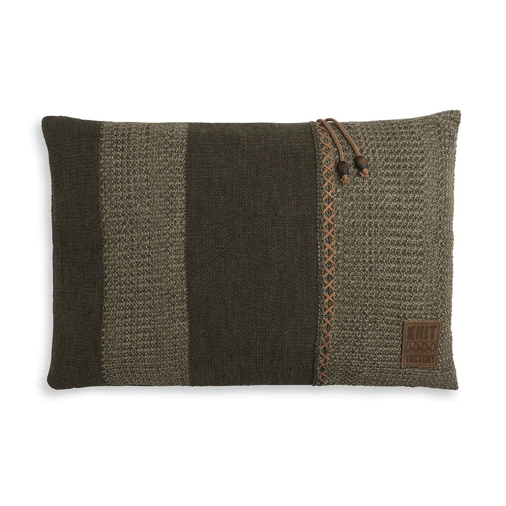 knit factory 1311344 roxx kussen 60x40 groen olive 1