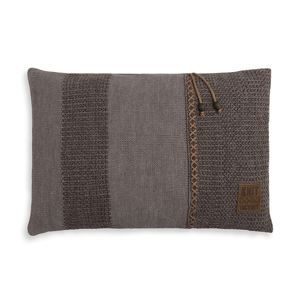 knit factory 1311348 roxx kussen 60x40 bruin taupe 1