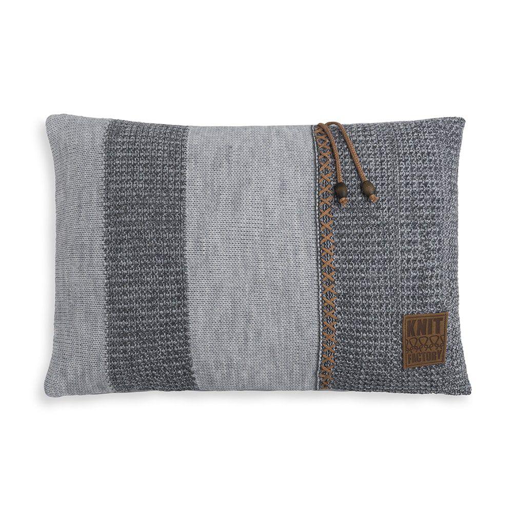 knit factory 1311351 roxx kussen 60x40 grijs antraciet 1
