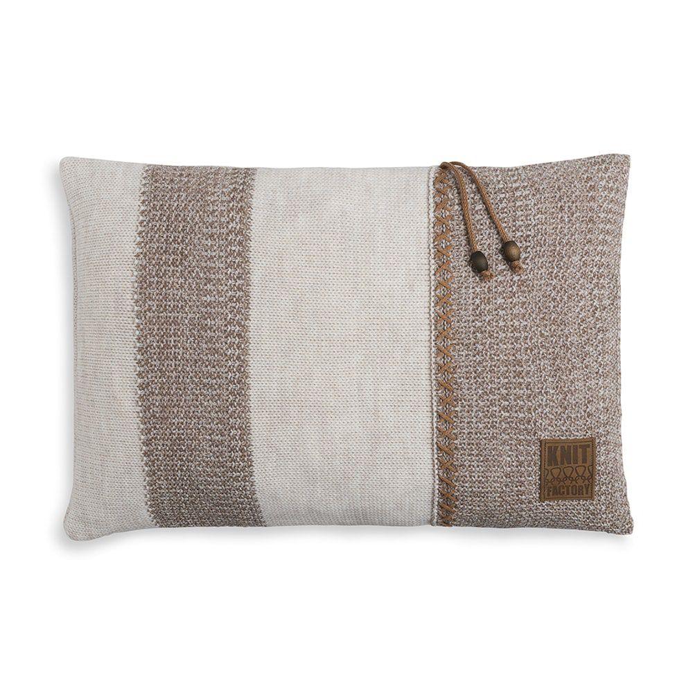 knit factory 1311352 roxx kussen 60x40 beige marron 1