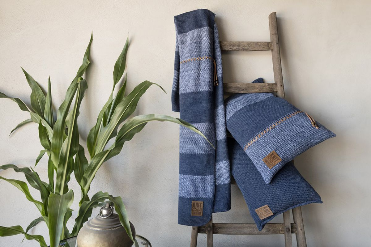 knit factory 1311352 roxx kussen 60x40 beige marron 5