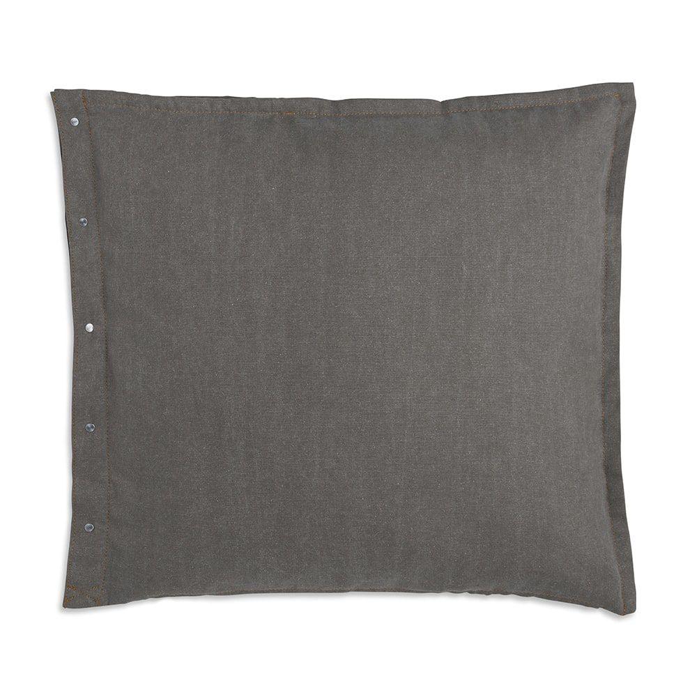 knit factory 1321244 rick kussen 50x50 groen olive 2