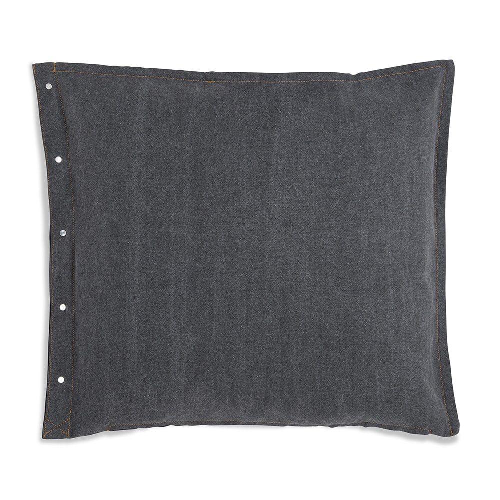 knit factory 1321251 rick kussen 50x50 grijs antraciet 2
