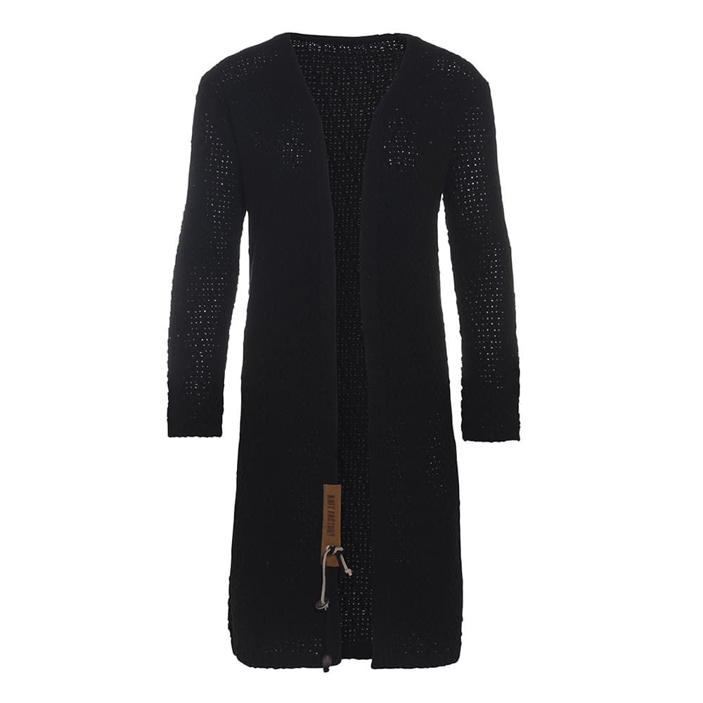 knit factory 1336200 luna vest 3638 zwart 1