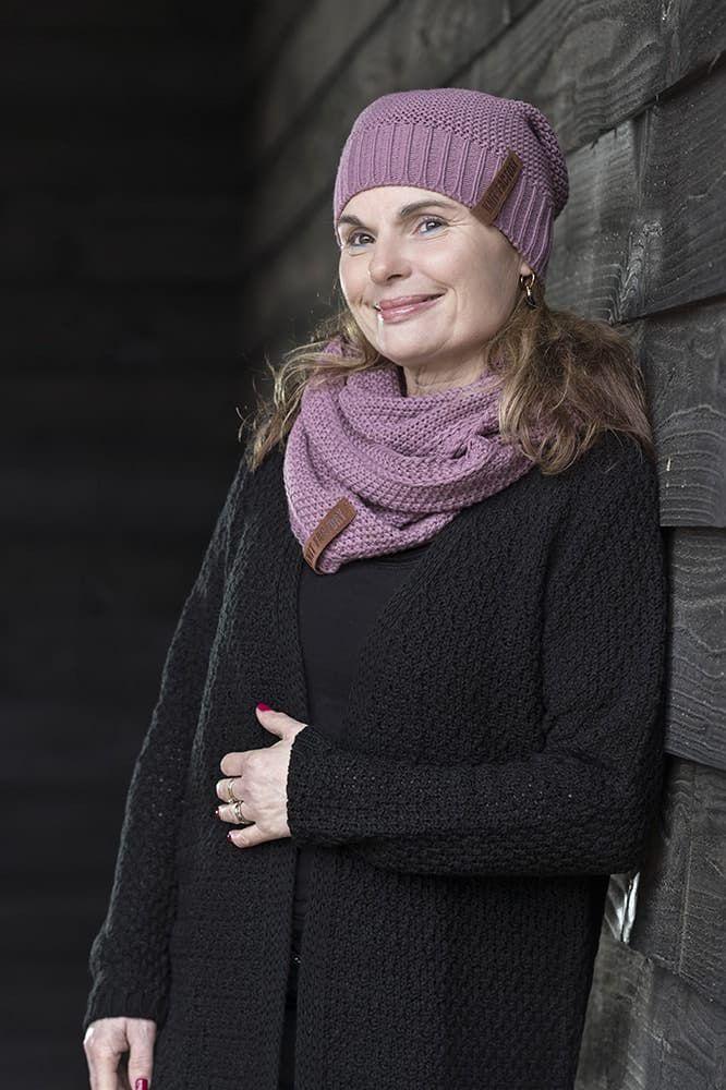 knit factory 1336200 luna vest 3638 zwart 3