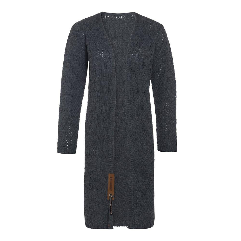 knit factory 1336210 luna vest 3638 antraciet 1