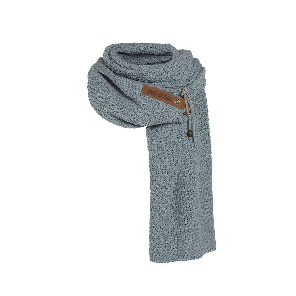 knit factory 1336509 luna sjaal stone green 1