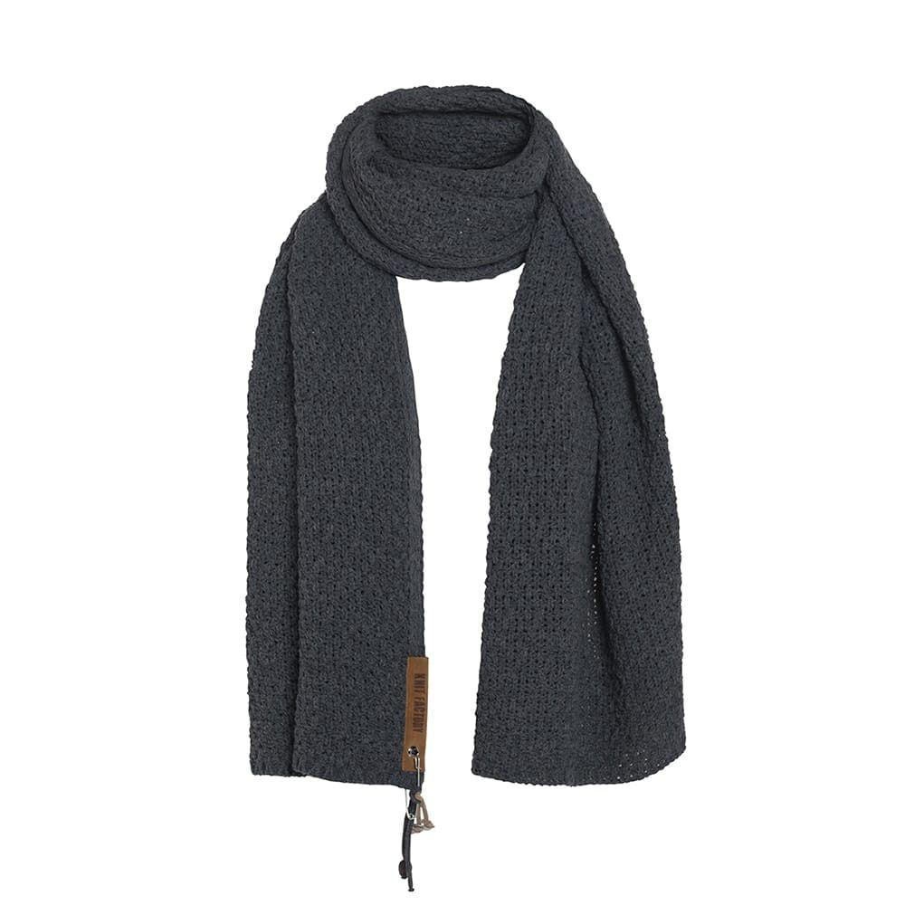 knit factory 1336509 luna sjaal stone green 2