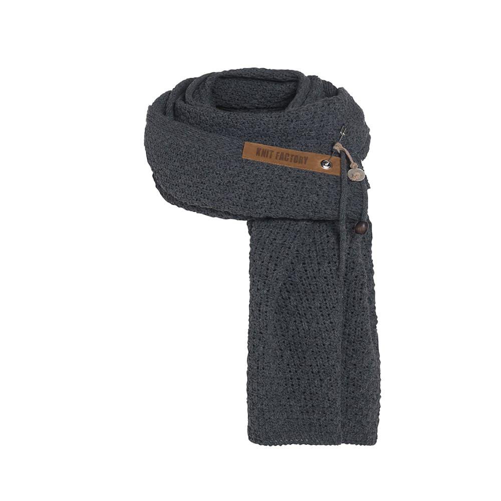 knit factory 1336510 luna sjaal antraciet 1