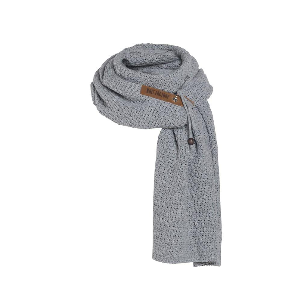 knit factory 1336511 luna sjaal grijs 1