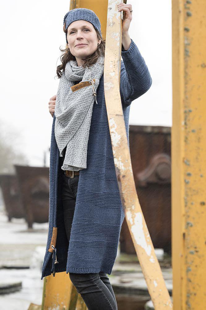 knit factory 1336511 luna sjaal grijs 6