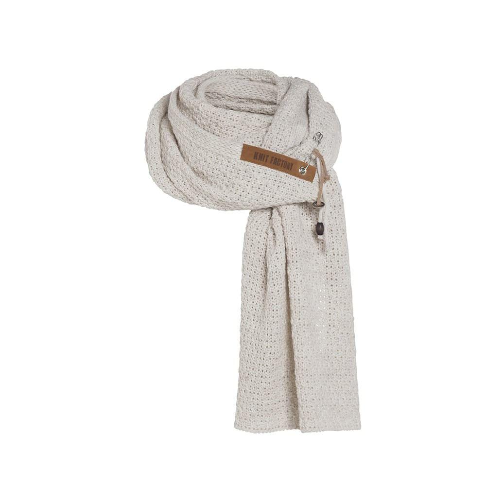 knit factory 1336512 luna sjaal beige 1