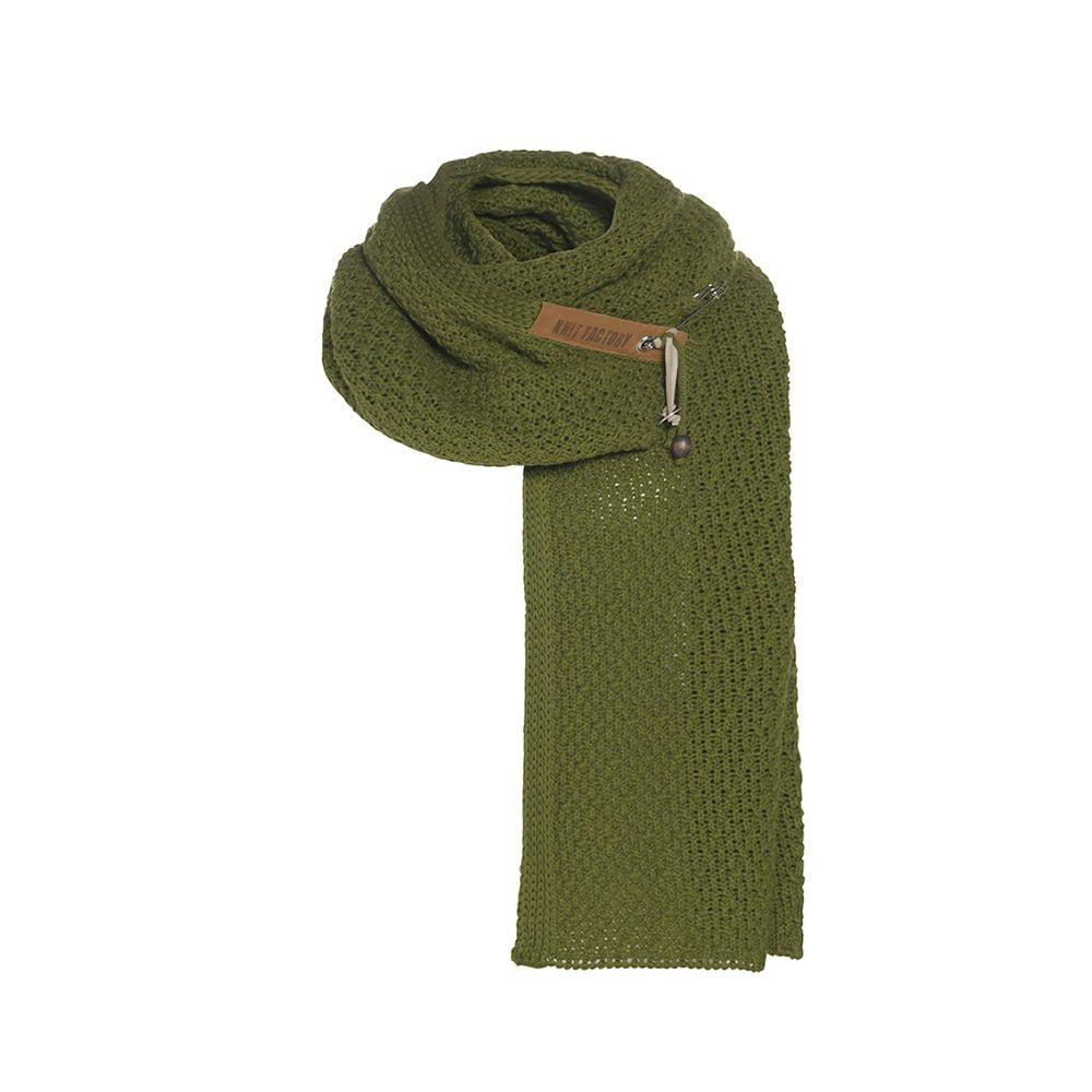knit factory 1336515 luna sjaal mosgroen 1