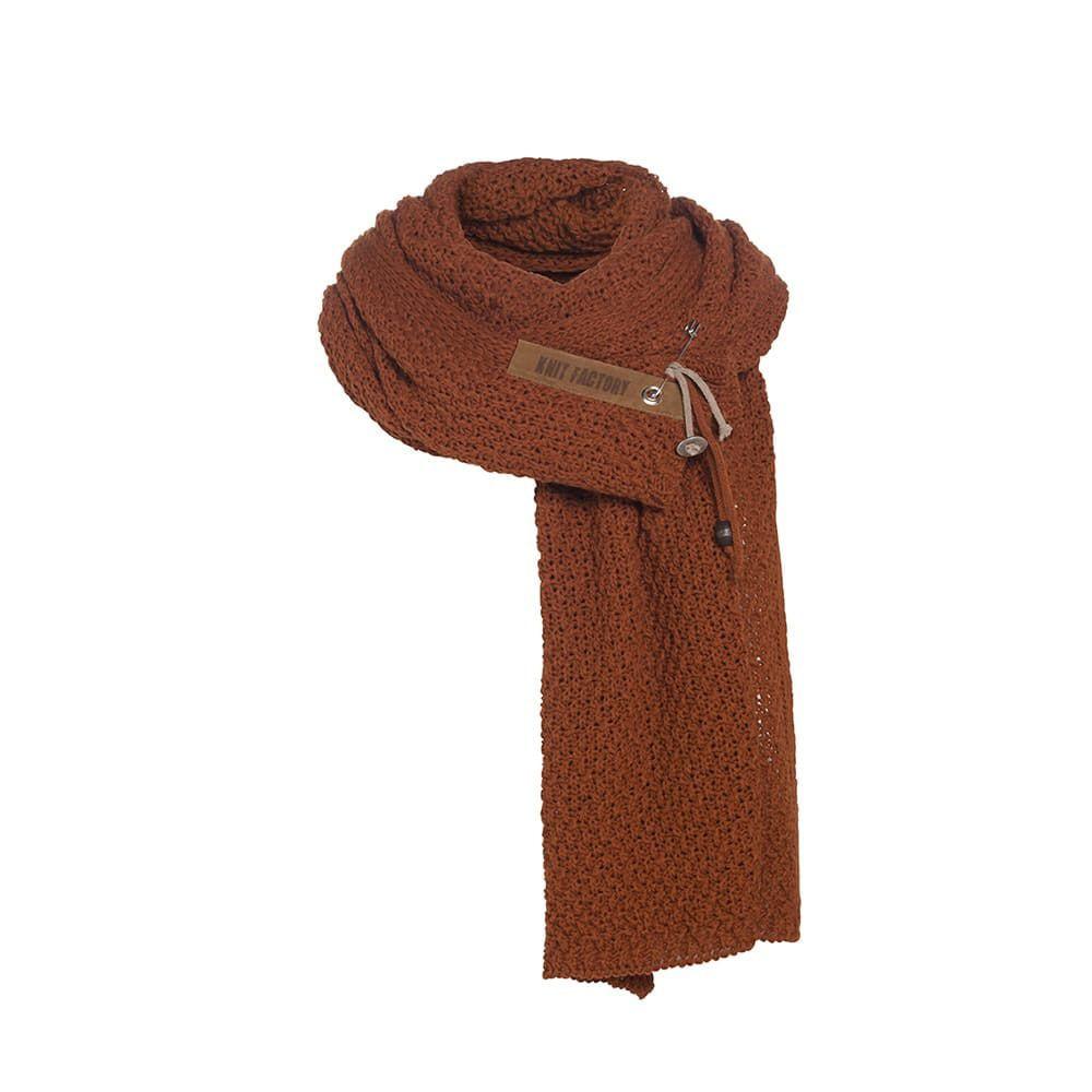 knit factory 1336516 luna sjaal terra 1