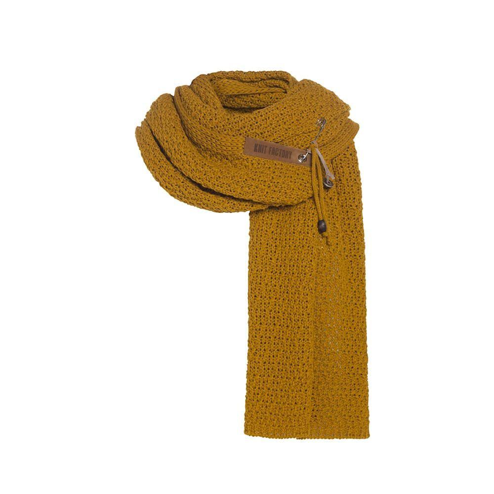 knit factory 1336517 luna sjaal oker 1