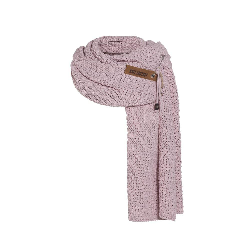 knit factory 1336521 luna sjaal roze 1