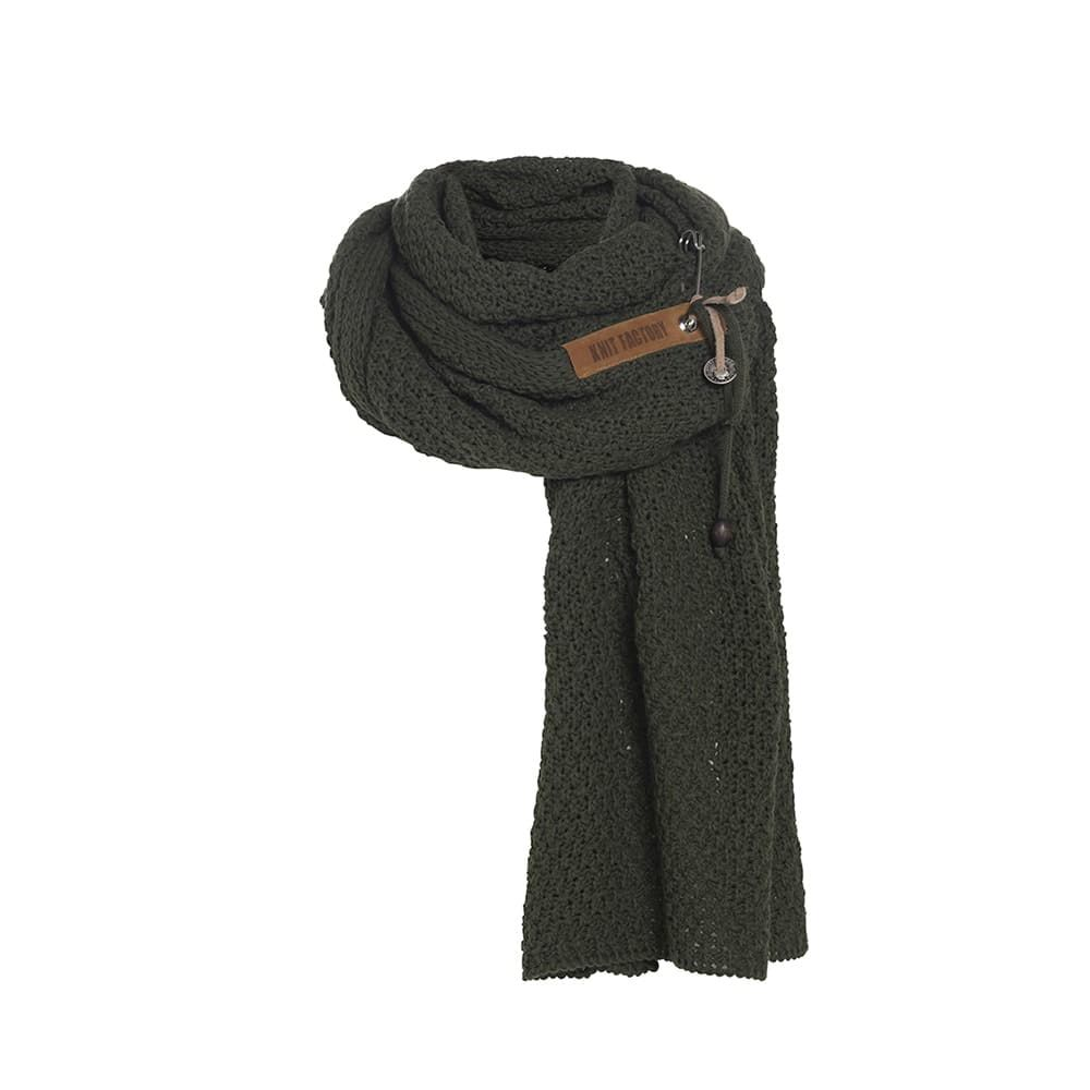 knit factory 1336525 luna sjaal khaki 1