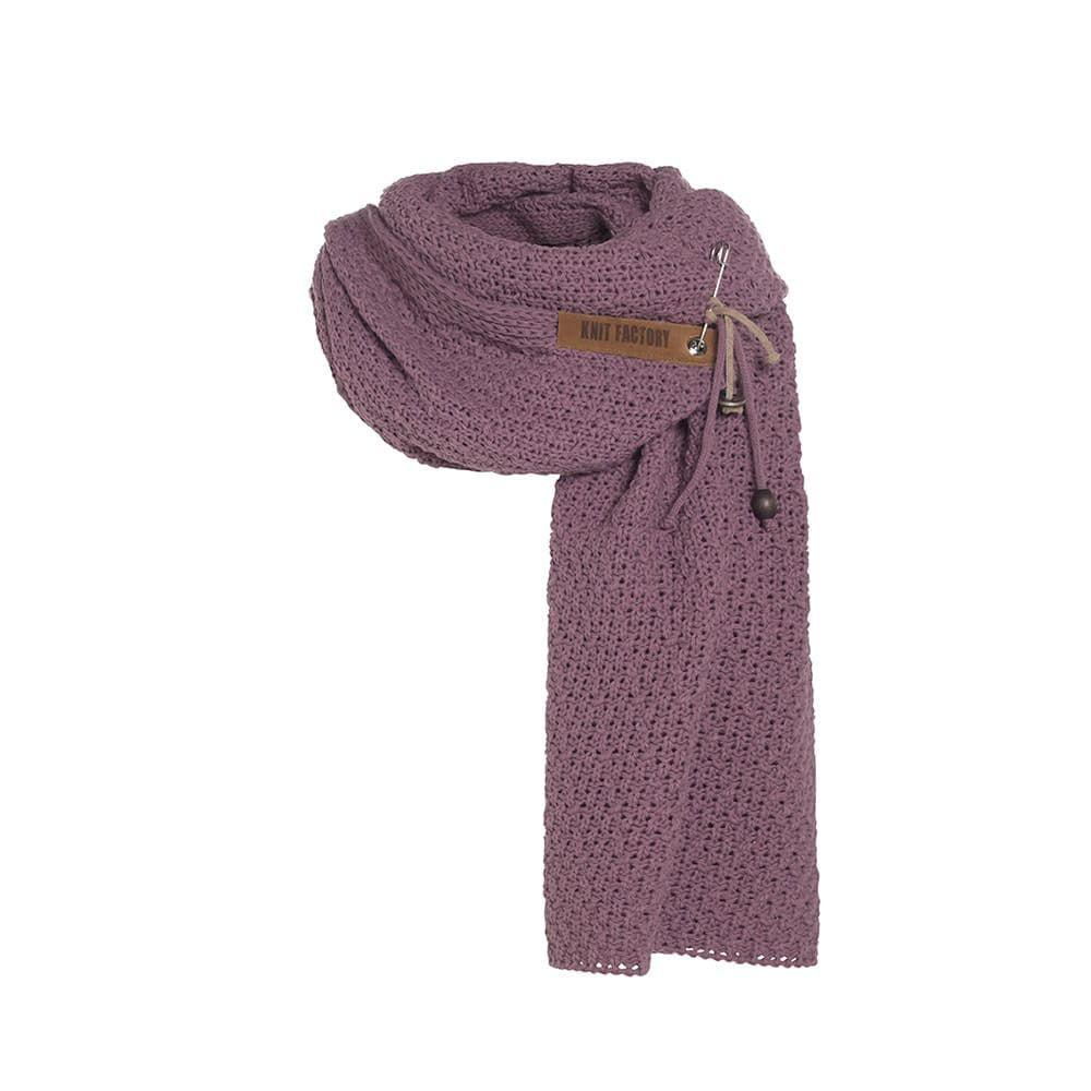 knit factory 1336527 luna sjaal lila 1