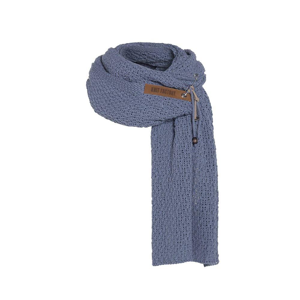 knit factory 1336532 luna sjaal indigo 1
