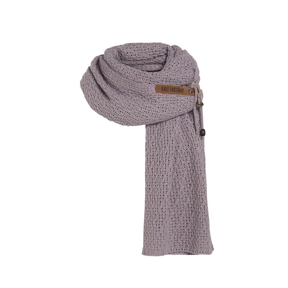 knit factory 1336534 luna sjaal mauve 1