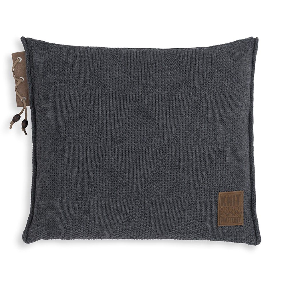 knit factory 1341210 jay kussen 50x50 antraciet 1