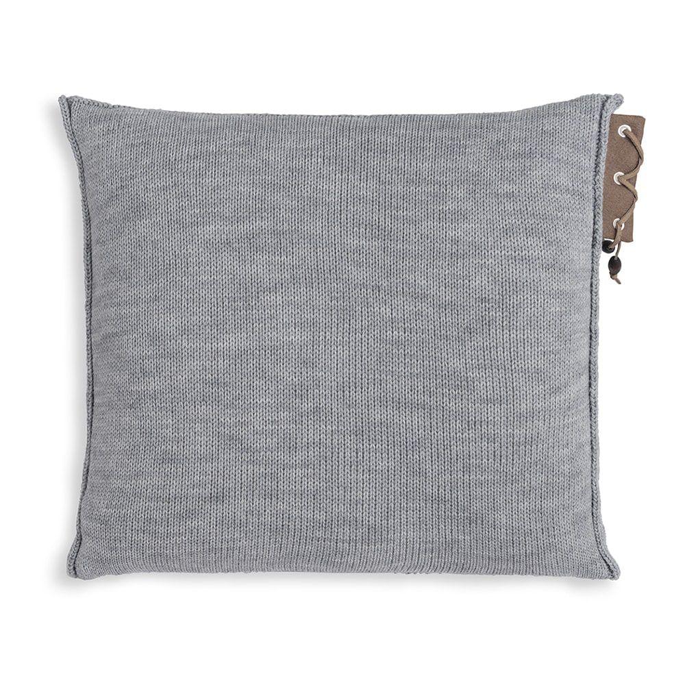 knit factory 1341211 jay kussen 50x50 licht grijs 2