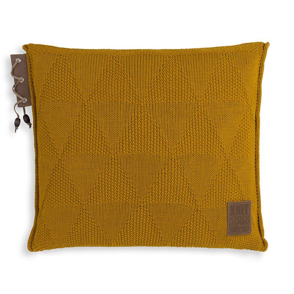 knit factory 1341217 jay kussen 50x50 oker 1