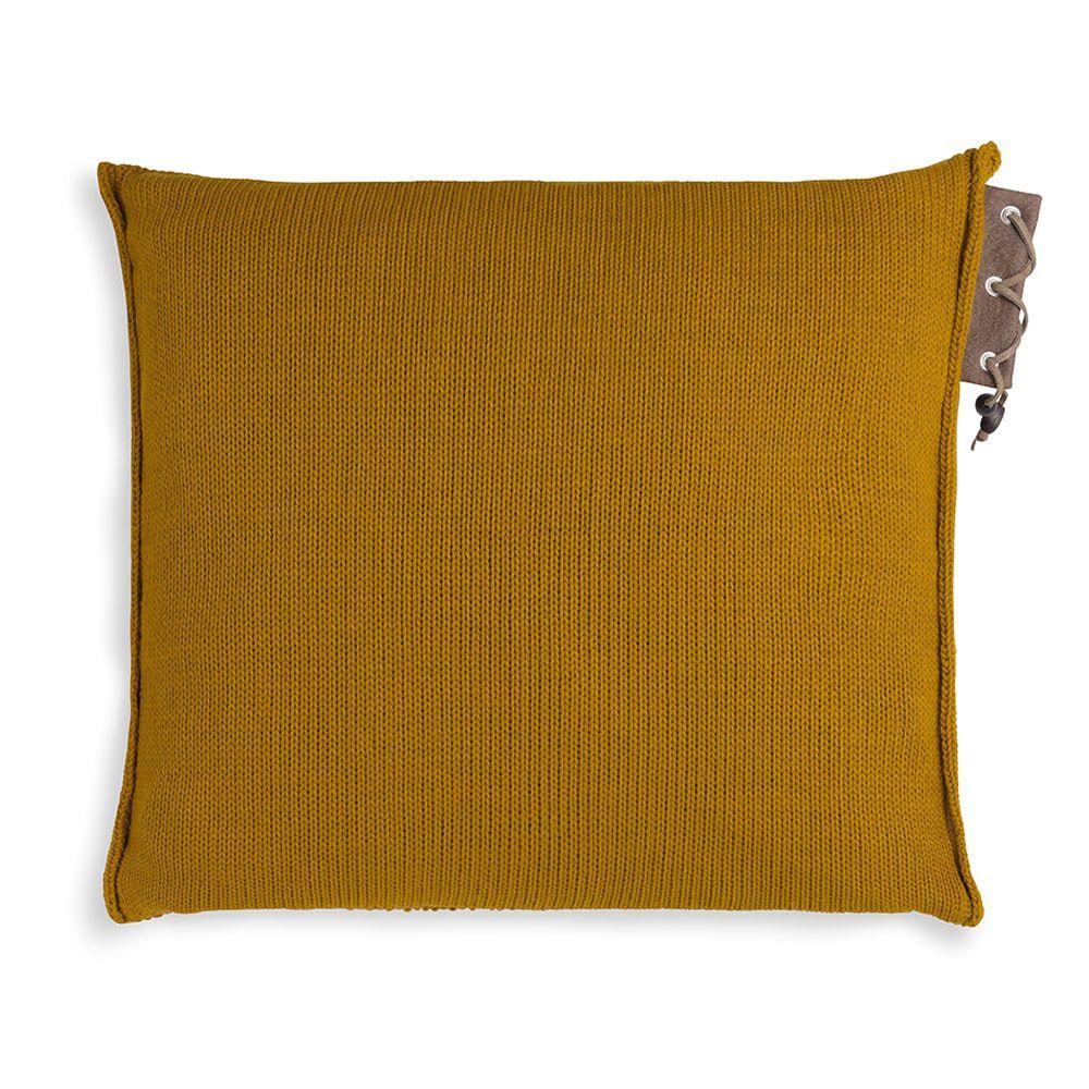 knit factory 1341217 jay kussen 50x50 oker 2