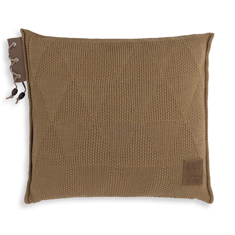 knit factory 1341220 jay kussen 50x50 new camel 1