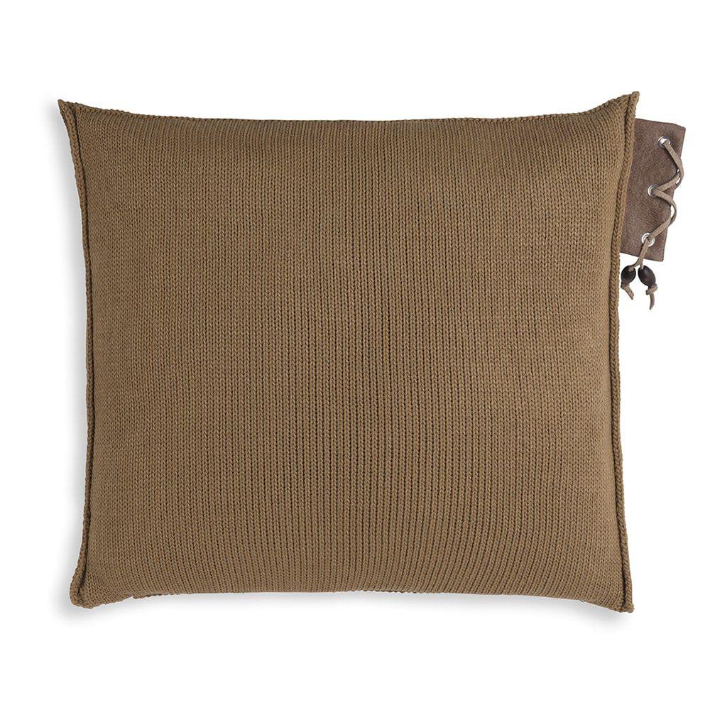 knit factory 1341220 jay kussen 50x50 new camel 2