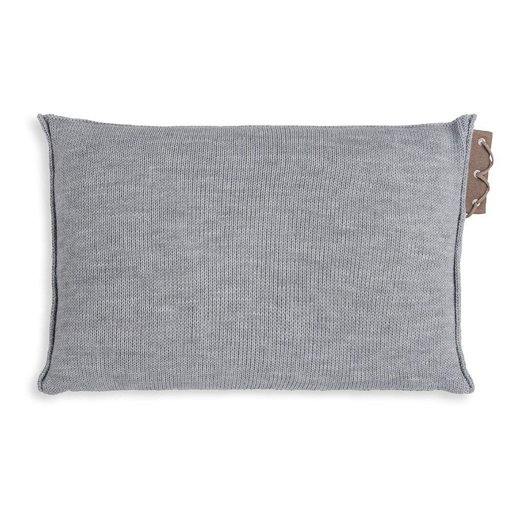 knit factory 1341311 jay kussen 60x40 licht grijs 2