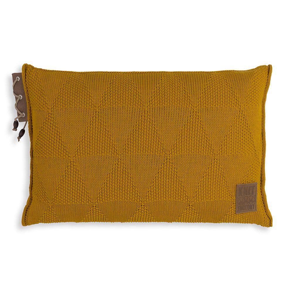 knit factory 1341317 jay kussen 60x40 oker 1