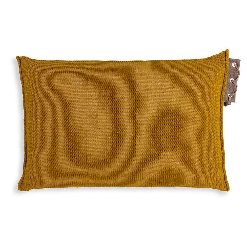 knit factory 1341317 jay kussen 60x40 oker 2