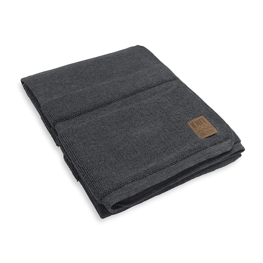 knit factory 1351110 yara plaid antraciet 1