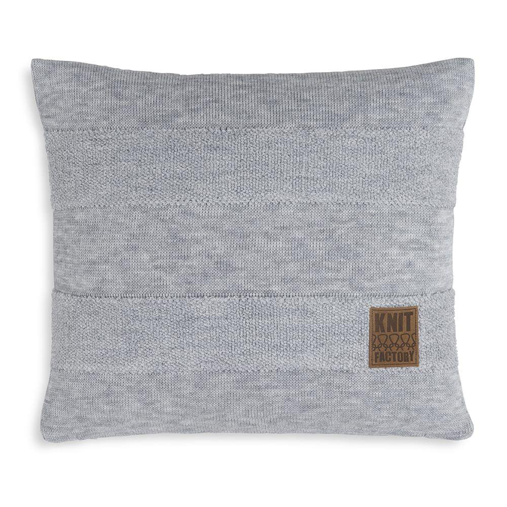 knit factory 1351211 yara kussen 50x50 licht grijs 1