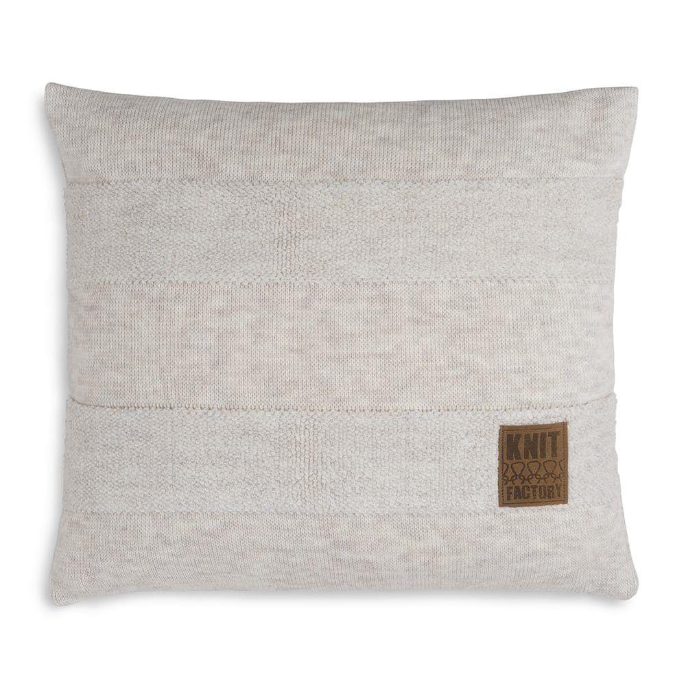 knit factory 1351212 yara kussen 50x50 beige 1