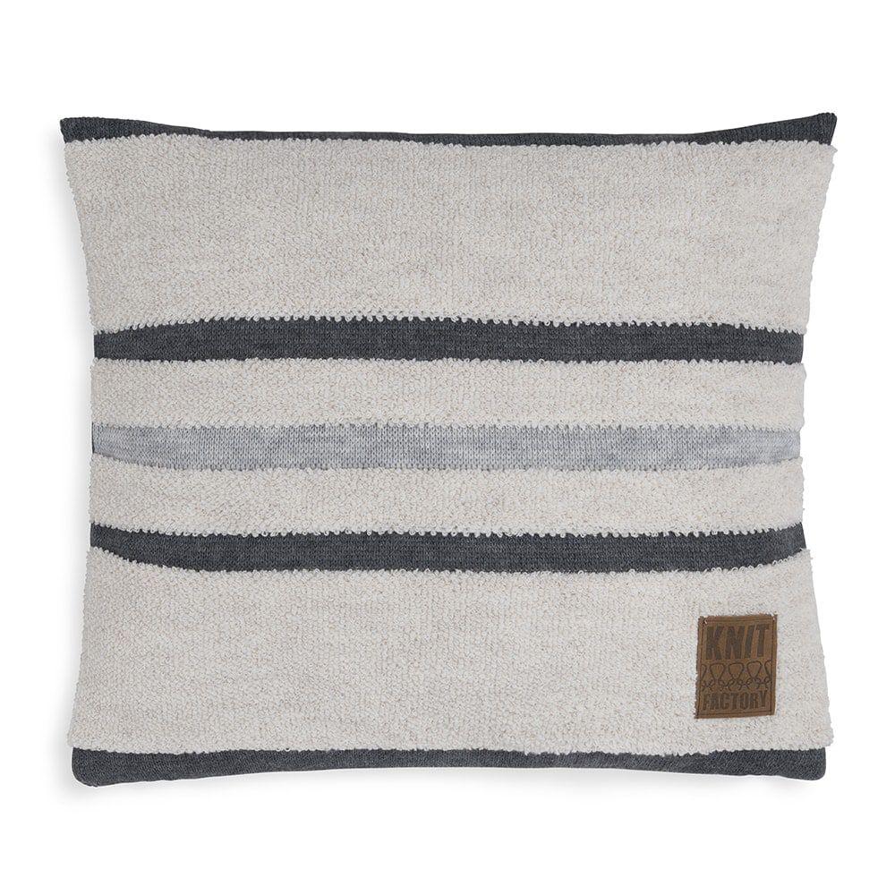 knit factory 1351245 yara kussen 50x50 beige licht grijs 1