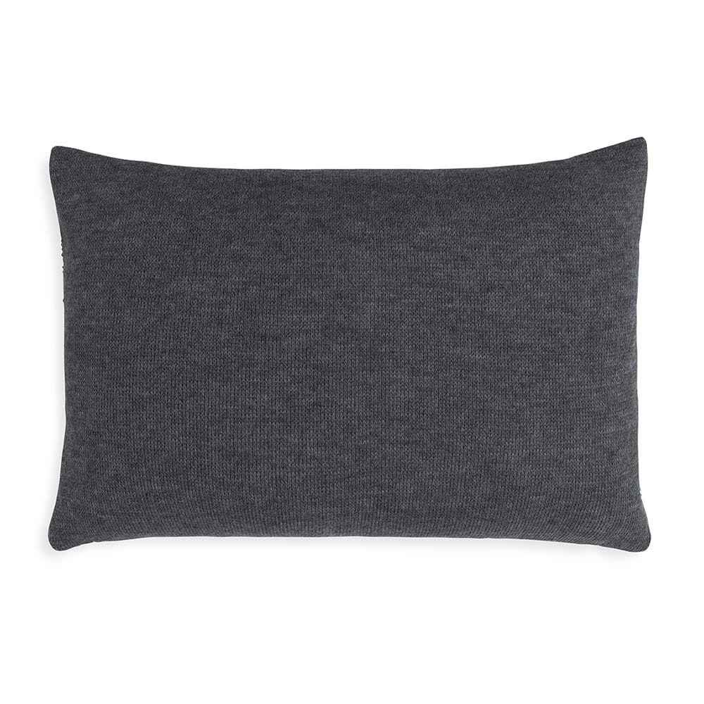 knit factory 1351310 yara kussen 60x40 antraciet 2